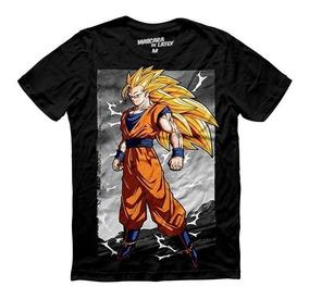 Playera Hombre Dragón Ball Goku Super Saiyajin 3 Toei Máscar