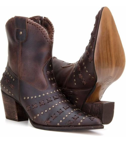 Bota Texana Feminina Country Cano Curto Wester Capelli Boots