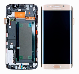 Tela Touch Display Lcd + Tampa + Pelicula Uv S6 Edge G925