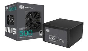 Fonte 500w 80plus Cooler M Masterwatt Lite Mpx-5001-acaaw-wo