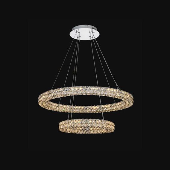 Lustre Pendente Moderno Anéis Rings 40/60cm 46w 3000k Bivolt