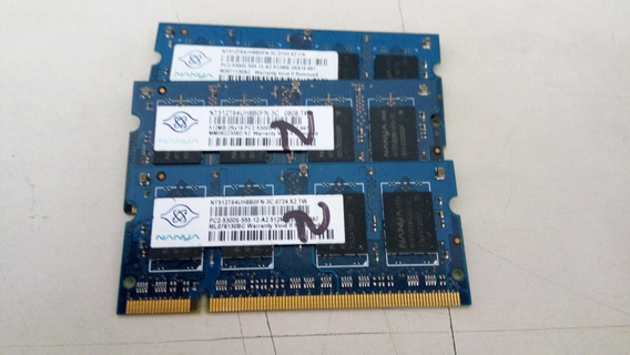 Memória Ddr2 512mb Pc2-5300s Nanya Notebook Diversos