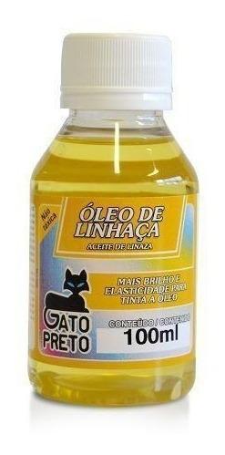 Oleo De Linhaca 100 Ml Incolor Artesanato - Gato Preto