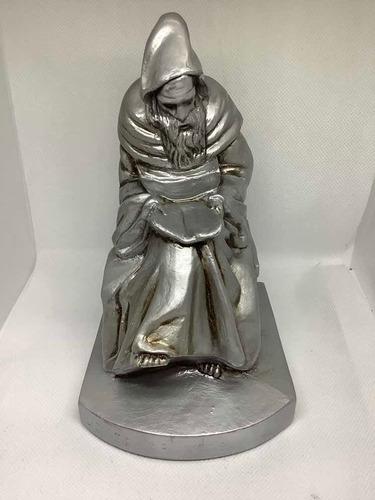 Escultura - Monje Lector -  Apoya Libros - Soporte Libros -