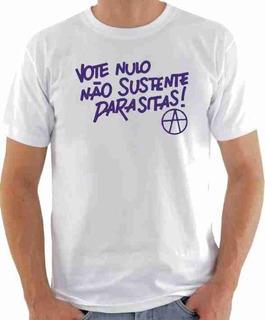 Camiseta Raul Seixas - Vote Nulo, Não Sustente Parasitas