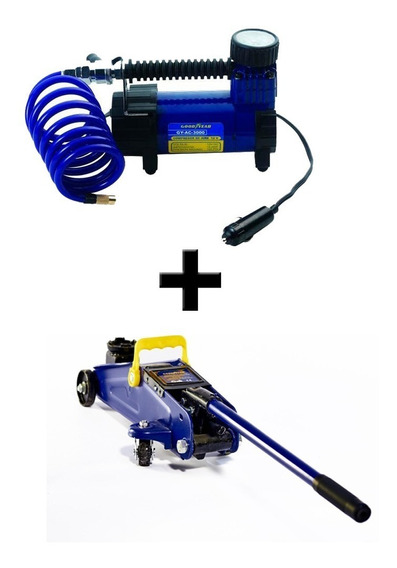 Combo Compresor De Aire + Cricket Hidraulico 2tn Goodyear