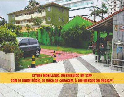 Kitnet Em Praia Grande,no Bairro Do Canto Do Forte, A 100 Metros Da Praia,toda Mobiliada - Kn0274