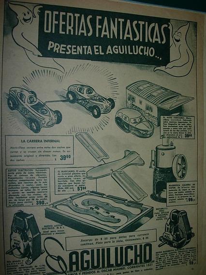 Publicidad Clipping Juguetes Aguilucho Caldera Autos Motores