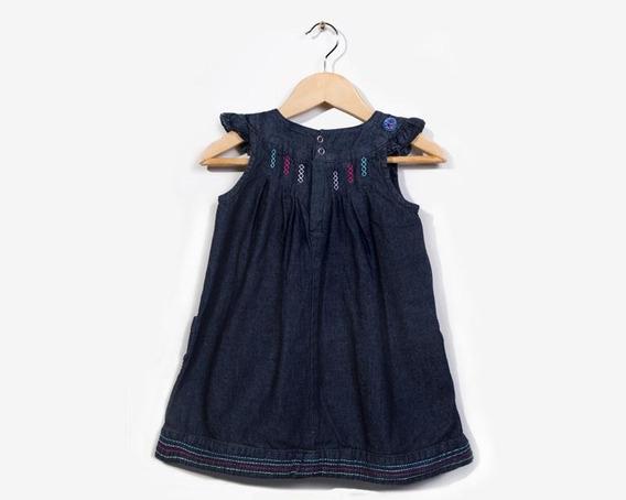 Vestido Azul Marca Grafito Baby Para Bebé Niña Pr-5432442