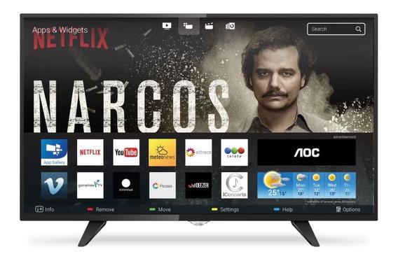 Televisor Aoc 43 Smart Tv Full Hd Isdb-t Hdmi Rj-45 Usb-ao