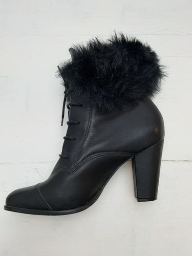Zapatos Acordonados Con Piel De Mujer - Usados