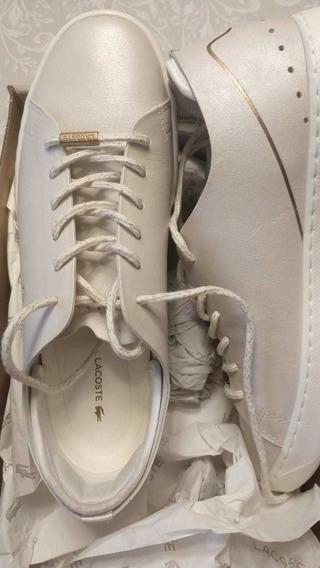 Zapatillas Lacoste Mujer. Una Postura, Están Nuevas.