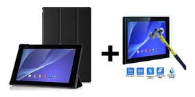 Capa + Pelicula De Vidro Para Tablet Xperia Z2