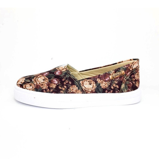 Tênis Slip On Quality Shoes Feminino 002 Floral