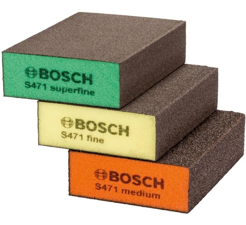 Imagen 1 de 4 de Set De Esponjas Abrasivas Para Lijado Bosch 3 Piezas Lijas