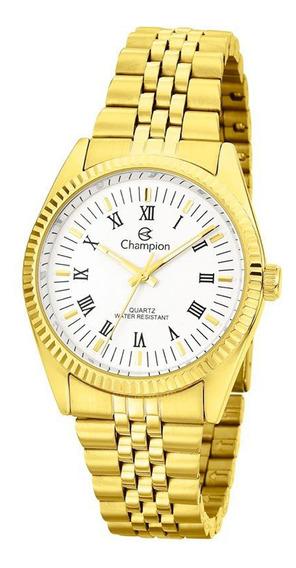 Relógio Champion Dourado Algarismo Romano Grande Ch24777h