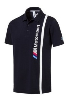 Playera Puma Bmw Motorsport Logo Polo Blanco Y Negro