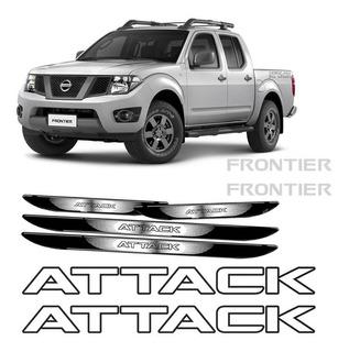 Kit Adesivos Faixa Frontier Attack Preto + Soleira Da Porta