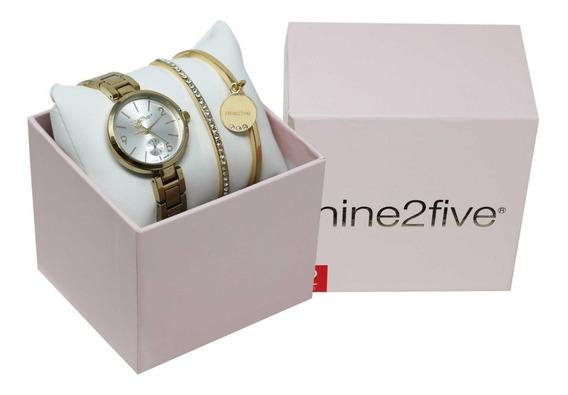 Set De Reloj Y Pulseras Mujer Nine2five Afw19setd15glsls1