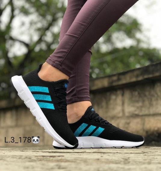 Tenis Zapatos Deportivos Escarchados Dama Zapatilla