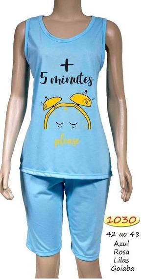 Pijama Feminino Pescador Verão Malha Formosa 1030 Até 48