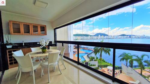 Praia Das Astúrias, Região Costeira, Guarujá, Apartamento Reformado, 3 Suítes, Sala Para 3 Ambientes, Amplo Terraço, Vista Panorâmica Para O Mar - Ap05708 - 69225367