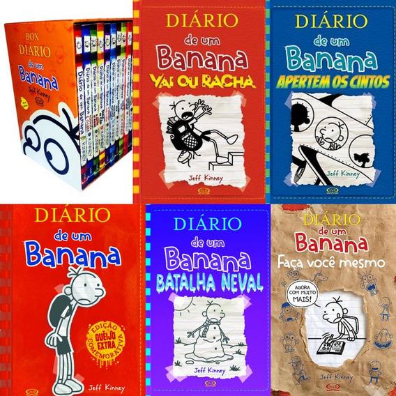 Box Diário De Um Banana Lacrado + 5 Livros