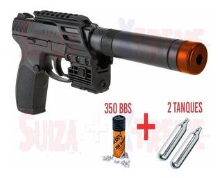 Pistola Co2 Airsoft Tdp 45 Tac Umarex 4.5mm C/láser
