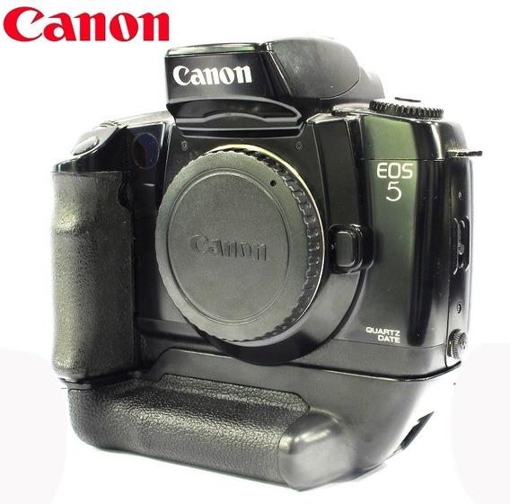 Câmera Canon Eos 5 C/ Vertical Grip Reflex 35mm - Só Corpo