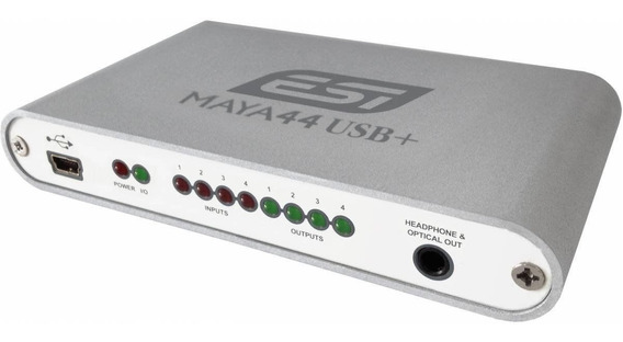 Placa Interface De Audio Dj Esi Maya 44 Usb 4 In 4 Out
