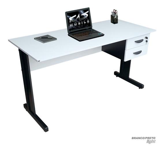 Mesa Para Escritório, Escrivaninha 1.60x60, Vár. Cores Mdp