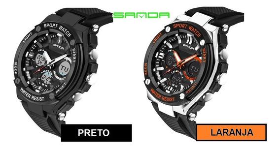 Relógio De Pulso Sanda 733 Caixa Com 2 Unidades Promocional