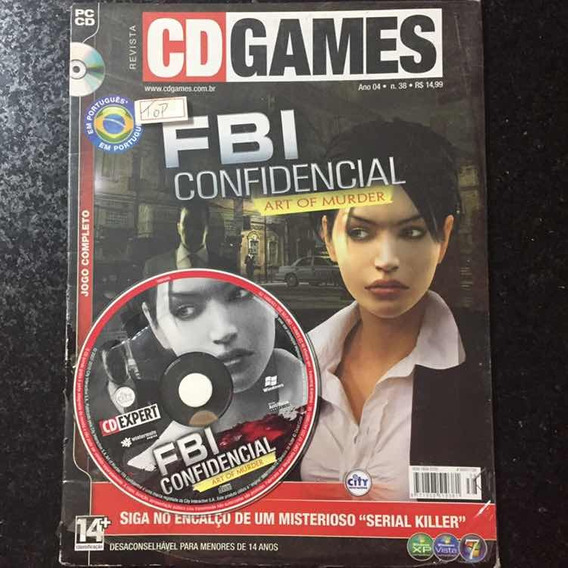 Jogo Pc Cd Games Fbi Confidencial Complet Revista Lacrada 38