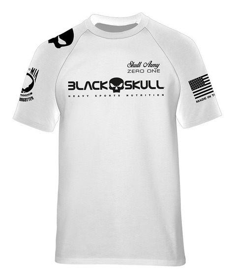 Lançamento Camiseta Bope Branca Dry Fit - Black Skull