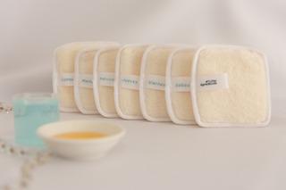 7 Eco Paños Demaquillantes Reutilizables De Higiene Facial