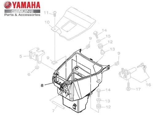 Caixa Assento Yamaha Crypton 115 2010 Até 2015 Original