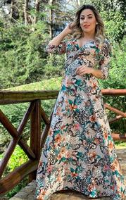 Vestido Detalhe Afina Cintura Moda Evangélica Manguinha