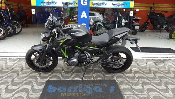 Kawasaki Z650 Abs 2018 Preta Único Dono