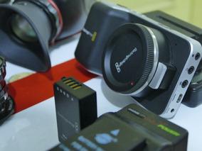 Blackmagic Pocket + Viewfinder + 3 Lentes + Cartão 64gb