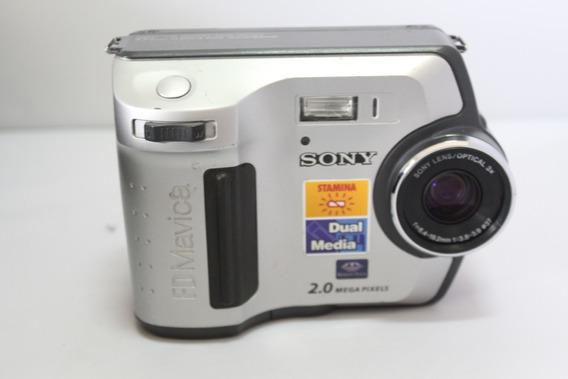 Câmera Fotografica Sony Mavica Mvc-fd200 Retro Para Coleção