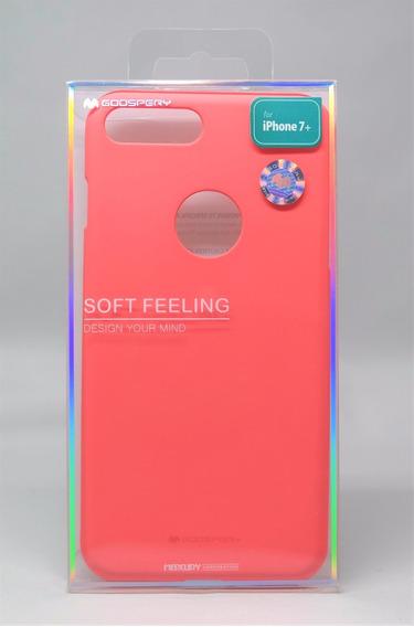 Funda Protector iPhone 7 Plus Goospery Sf Jelly Case Rosa