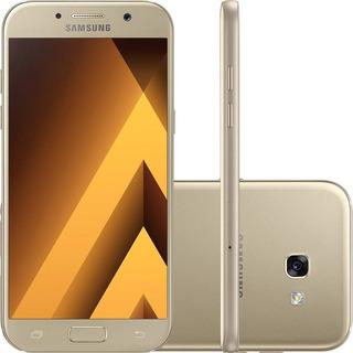 Smartphone Celular Galaxy A5 2017 64gb Dual Dourado Vitrine