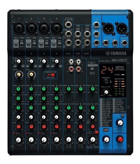 Mesa De Som Yamaha Mg10xu C/efeitos 10 Canais
