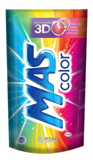 Detergente Líquido Mas Color Econopack 415 Ml