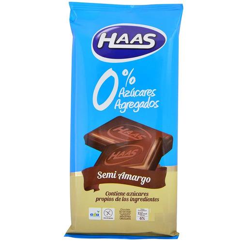 Haas Tableta 0% Azúcar Semi-amargo 70 G.