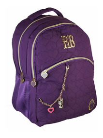 Mochila Notebook Escolar Rebeca Bonbon Rb8175 Cupcake - Roxo