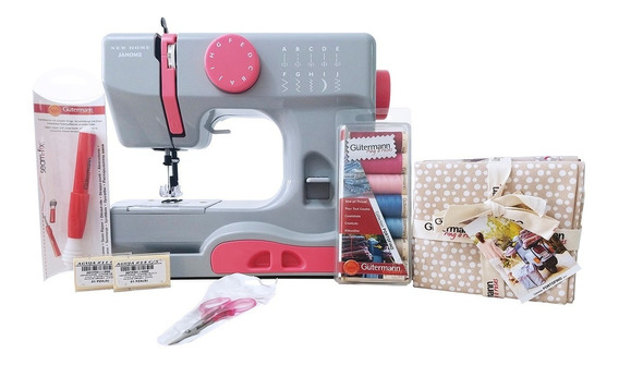 Máquina De Coser Janome Sew Mini + Hilos + Telas +descosedor