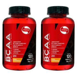 Aminofor Bcaa Tangerina - 2x 60 Tabletes - Vitafor