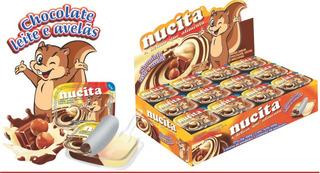 Creme Avelã Chocolate Bicolor Tradic 10g C/48 Nucita