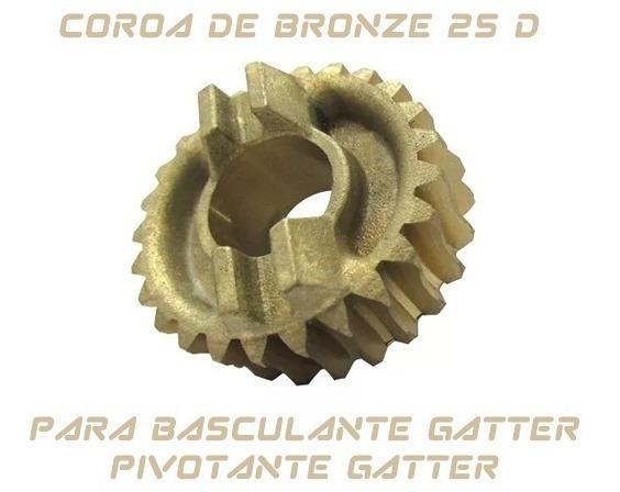 Engrenagem Coroa Bronze Do Motor Baculante Pivotante Gatter